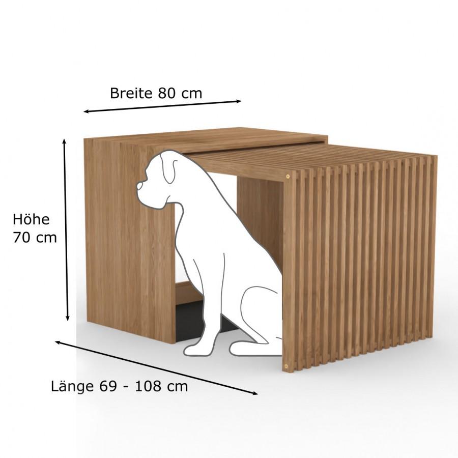 Hundebox  Stockholm Large Eiche