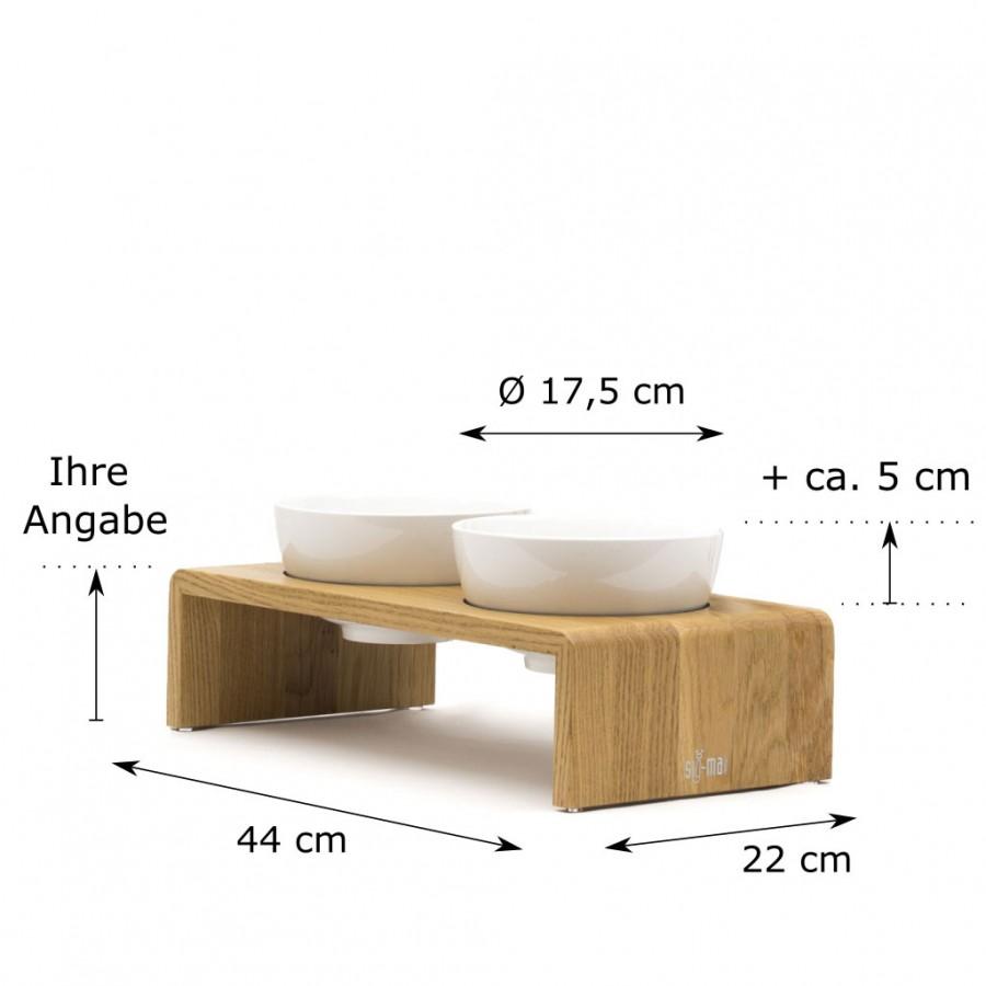 individuelle Höhe Doppelbar Udo Medium Eiche