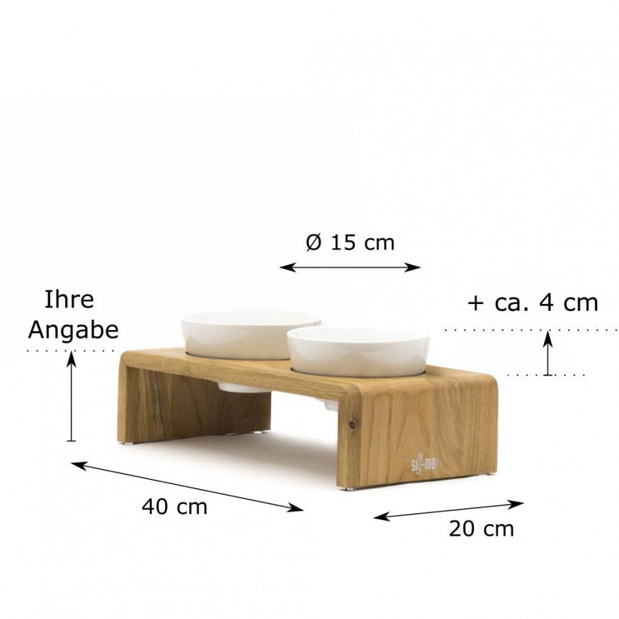 individuelle Höhe Doppelbar Udo Small Eiche