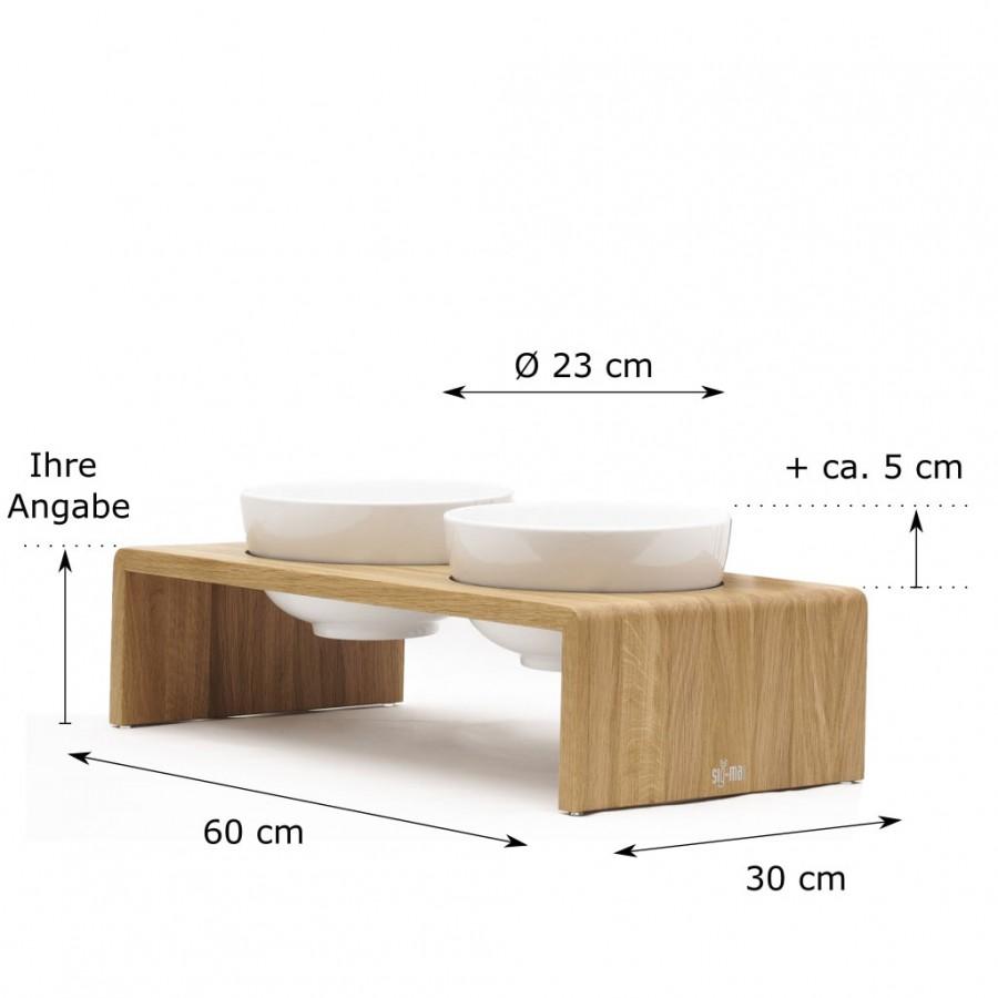 individuelle Höhe Doppelbar Udo X-Large Eiche