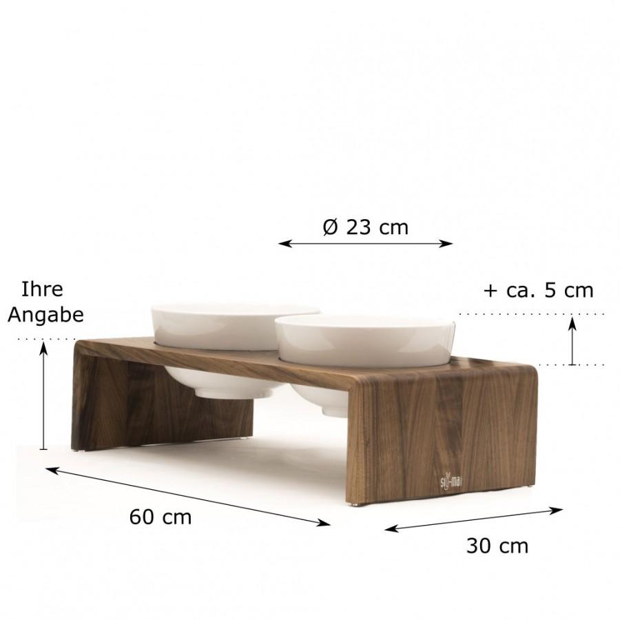 individuelle Höhe Doppelbar Udo X-Large Nuss