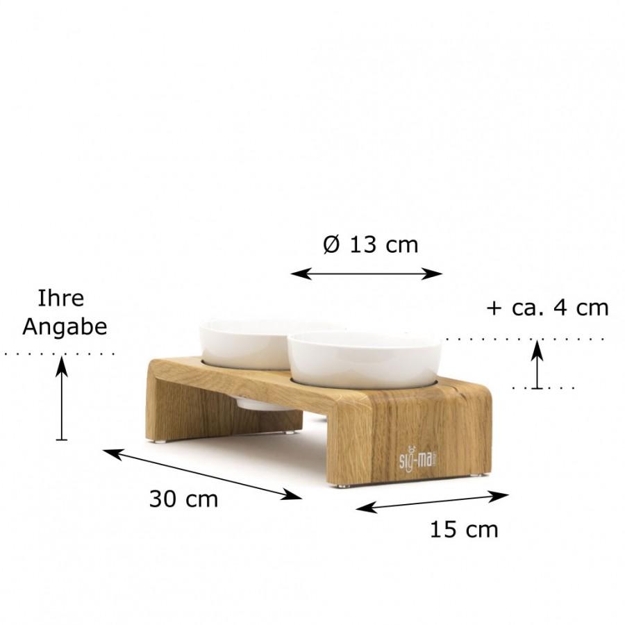individuelle Höhe Doppelbar Udo X-Small Eiche