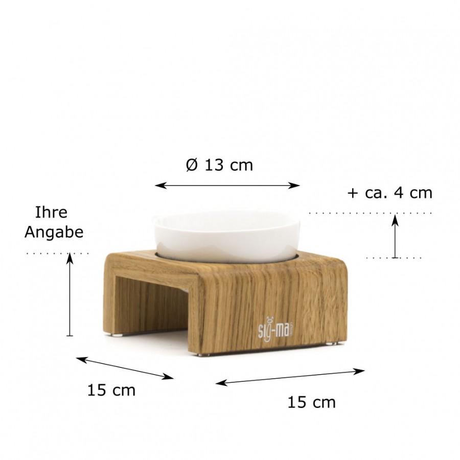individuelle Höhe Einzelnapf Udo X-Small Eiche